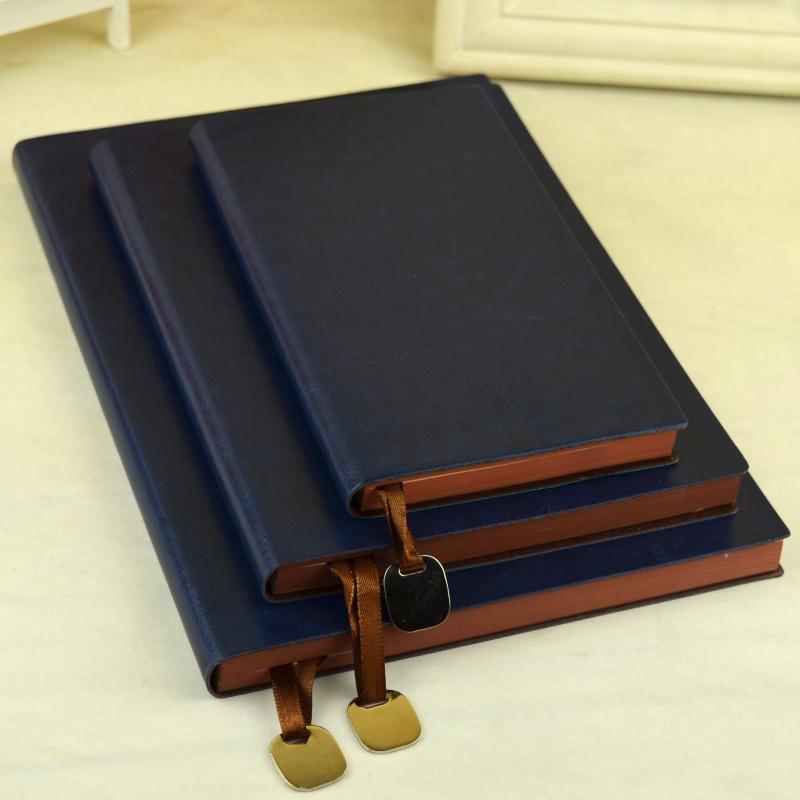 A5皮面商务笔记本文具软皮办公用记事本加厚会议记录大号工作本子