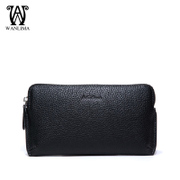 Wan Lima new man bag clutch bag soft leather men business large volume fashion hand bag