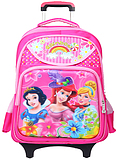 New three-dimensional female princess male armor primary school student drawbars bag 3 - 4 - 6 grade removable flash wheel