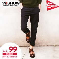Viishow new men's casual pants feet straight casual slim fit men's pants trousers men's pants men's