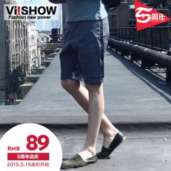 Xia Nan Chao viishow stitching linen shorts in Europe and five straight pants leisure pants