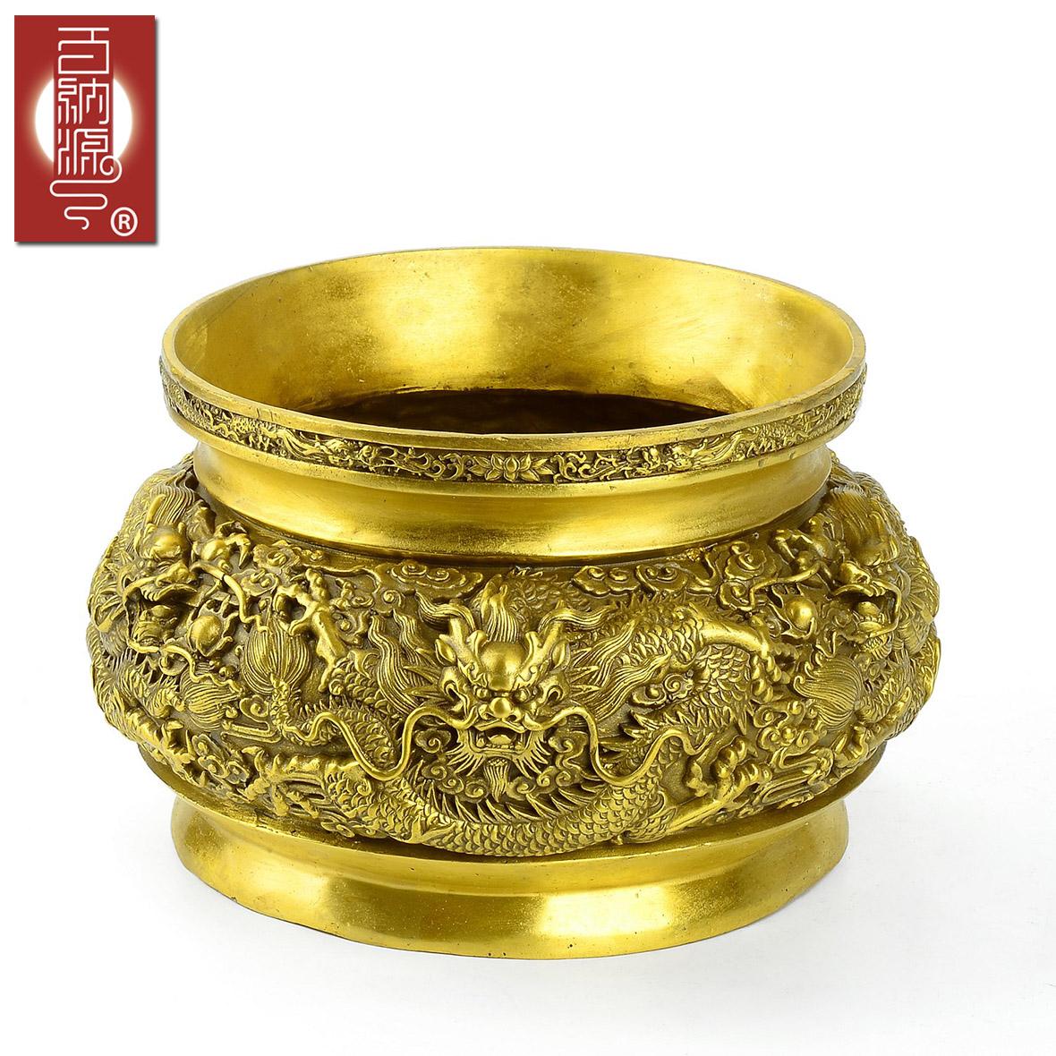 百纳源 九龙香炉 家用纯铜观音财神供奉香炉 烧香炉大号佛堂