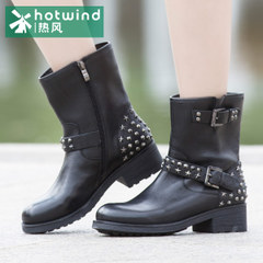 Hot new rivet boots punk casual shoes winter shoes boots with 75H5920