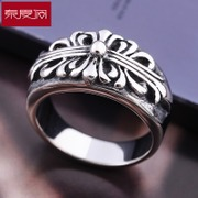 Spring Festival in a cross pattern ring titanium steel men''s aggressive punk retro accessories fashion rings