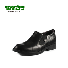 2015 and grey sheep leather elastic leisure business casual leather shoes men's shoes 0660114