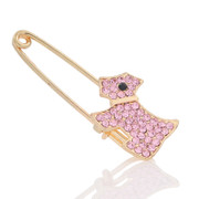 A033 Korea jewelry rhinestones brooch pin lovable dog brooch