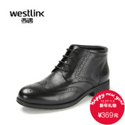 Westlink/West New 2015 winter leather yinglunbuluoke engraved men's boots leather short boots