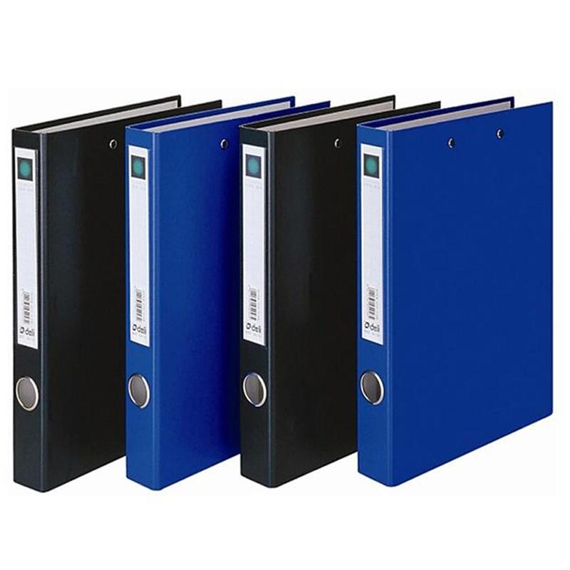 得力文件夹5456 双夹A4长押夹+板夹资料收纳夹硬质纸板办公文件册