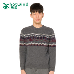 Hot winter new style men's Jacquard sweaters men crewneck pullover Korean version of self 08W5903