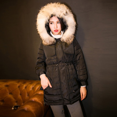 QUEENZZ Europe and the socialite winds fall/winter 2014 new mouse Mao Damao neck Super warm cozy down jacket #