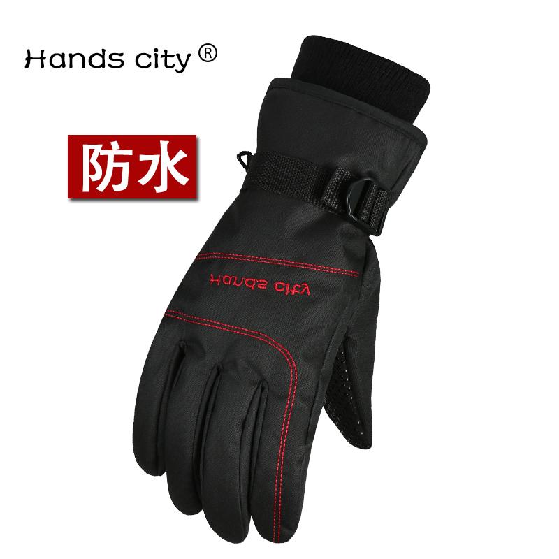 冬季防水加厚保暖手套男女加绒骑行摩托车电动车防风滑雪机车手套