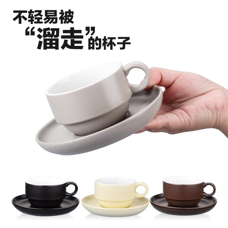四福 手工陶瓷咖啡杯 欧式咖啡杯 拉花杯 卡布奇诺杯 拿铁杯