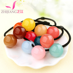 Rivers of jelly squares Candy-colored rings Korea skin covers children rubber band ring rope string string ornaments