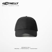 夏天纯黑色男士棒球帽韩款hf9土酷运动jw遮阳帽