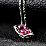 Thai female personality embedded tourmaline necklace 925 Silver Pendant pendant fashion jewelry range optional