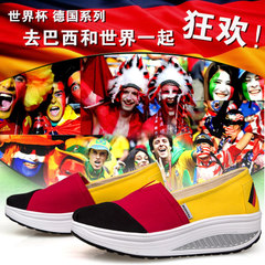 MI Ka fall 2015 Brazil World Cup Germany soccer shoes with canvas shake breathable high wedges shoes