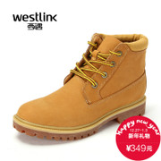 Westlink/West New 2015 winter outdoor leather stitching laces tooling boots men's boots