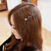 Email Korean rhinestones tiara hair accessories shine side gripping clamp clips simple clip bangs female BB clip Clip