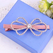 Pack email decorated Korea genuine hair bow clip rhinestone hairpin Duckbill clips side clips fringe tiara