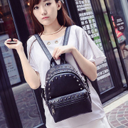 Mini rivets fanciful new Backpack boom girl Korean version of Pu Institute wind simple small backpack school bag