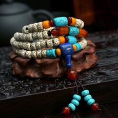 樱 星月菩提子108颗佛珠手链 正月高密顺白干磨藏式男女手串配饰