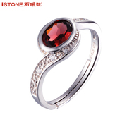 Stones happy life Garnet rings women Valentine''''''''s day gifts