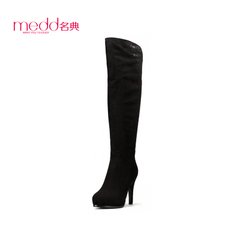 Slim skinny code 2015 winter waterproof boots pointed stiletto ultra high heel knee boots women