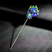 Thai-new limited edition cloisonne enamel filigree flower hairpin classical hairpins national wind came moaning girls