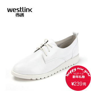 West fall 2015 new leather strap casual shoes platform flat bottom with dark shoes women's shoes