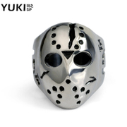 YUKI Jason arrogance masked ring titanium steel rings men''s index finger ring in Europe and America people cool Club accessories