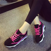 2016 in spring fashion light system with casual sneaker women with thick-soled running shoes new students with flat shoes