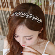 Know Richie jewelry hair accessory Korea fine headband rhinestone Pearl card narrow head headband Korean version-encrusted headdress