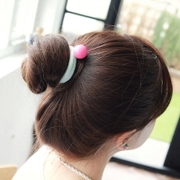 Know Richie authentic Korean hair accessories macarons ball bracelet hair tie elastic rope sponge ring headdress