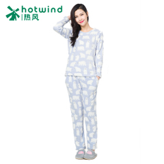 Hot new cartoon Pajamas girls winter thick cute head home service kit 93H025900
