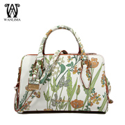 Wanlima/around 2016 new ladies bags shopping mall in early spring with print fashion handbag boom