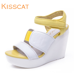 KISS CAT/Kiss cat 2015 summer fashion Korean female Sandals wedges commuter air products D55326-01
