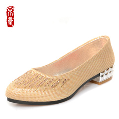 Beijing genuine old Beijing cloth shoes in women's shoes in the morning with light black frock shoes with breathable simple ladies shoes
