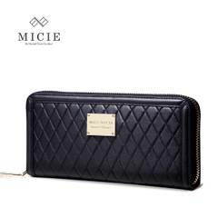 2015 Europe ladies wallet leather rhombic around wallet leather handbag bag fashion handbag vintage