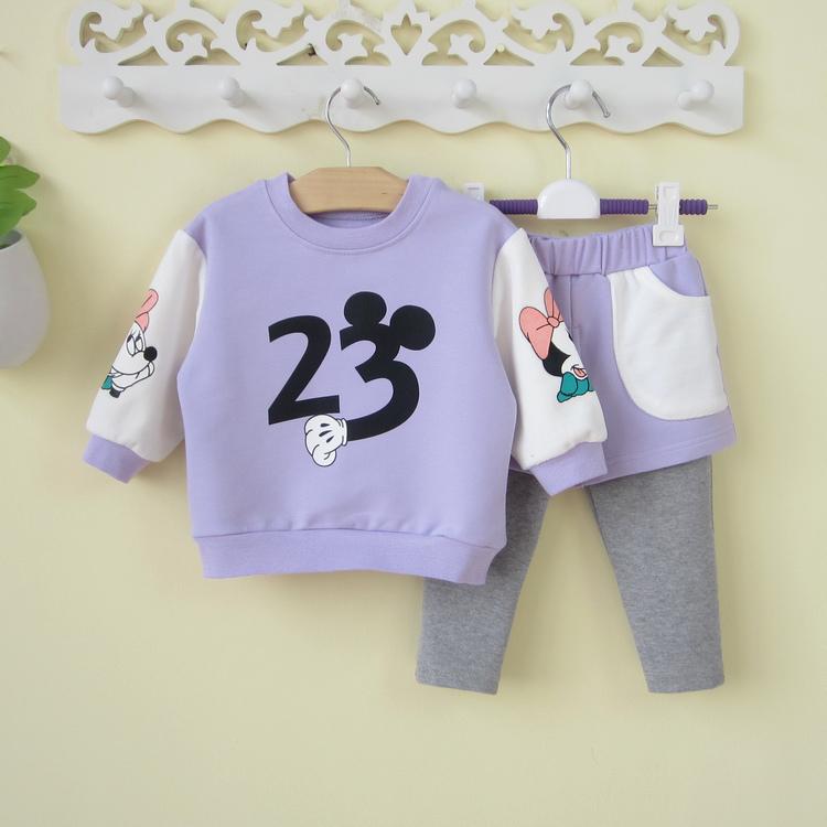 一岁半女宝宝秋装0-1-2岁婴儿卫衣两件套装春秋6-12个月婴幼儿潮3
