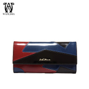 Wanlima/million 2015 cross ladies wallet large zip around wallet color for fall/winter fashion Europe, ladies wallets