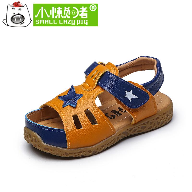 小懒猪儿童机能鞋凉鞋夏2017新款露趾学步鞋男童沙滩鞋凉鞋夏季鞋