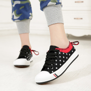 After spring of 2015, new flat-bottom low stars bow mixed colors a sweet student sneakers women