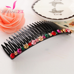 Plug the Zhijiang comb comb comb bangs Korea rhinestone hair band big head issuing tiara hair accessories