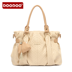 Doodoo Korean fashion hand shoulder slung bags OL commuter ladies soft leather bags-fall 2015 tide bag
