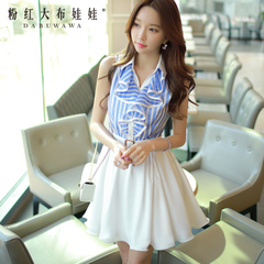 2015 dress big pink doll dresses, dresses, summer dress new with flounces temperament ladies