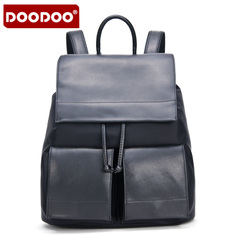 Doodoo casual backpack girl Korean version flows Institute wind autumn women bag travel bag Street nylon backpack bag