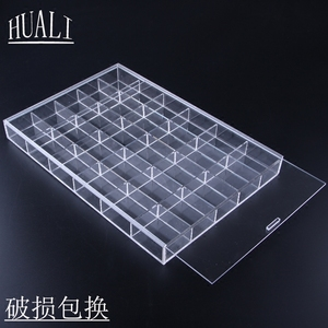 Acrylic Lattice Storage Plate Bracelet Jewelry Storage Box Accessories Buddhism Loose Jewelry Display Box