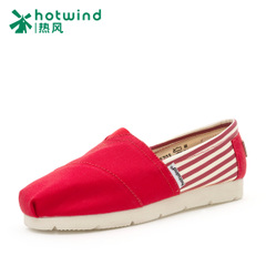 Hot spring and autumn leisure shoes stripes light canvas shoes women shoes a pedal lazy people tide 67H5703