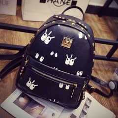Beauty about shoulder bags women bags fall 2015 new Korean trend printed bag rivet bag student bag travel bag