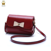 Amoy fashion Korean version 2015 new stylish sweet bow sweet candy bags small baodan diagonal shoulder bag